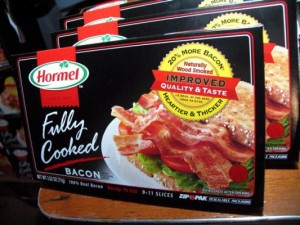 Hormel Fully Cooked Bacon-Package